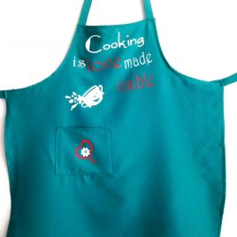 """Sort personalizat cu text haios """"Cooking is love made visible"""""""